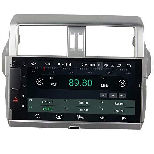 ROADYAKO Double Din Android 8.1 Autoradio Stéréo pour Toyota Prado 2014 2015 Navigation GPS 3G WiFi Lien Miroir RDS FM AM Bluetooth AUX Audio Vidéo