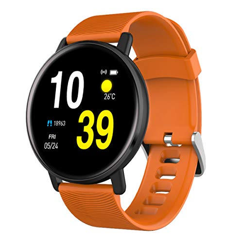 Wasserdicht Männer und Frauen Smart Watch H5-Puls-Monitor Blutdruck Smart Watch Kleidung Accessoires, Orange, One Size