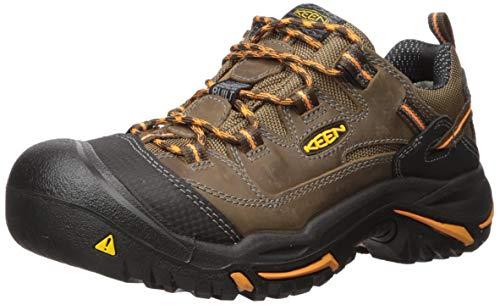 KEEN Utility Men's Braddock Low Soft Toe Work Boot, Cascade/Orange Ochre, 9.5