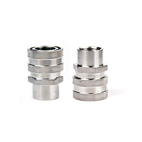 """ProMaker 2 Pack 1/2"""" FPT Home Brewing 304 Stainless Steel Female Quick Disconnect (1/2'' FPT) (Renewed)"""