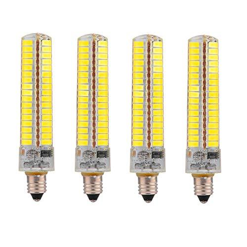 Liyuzhu E11 Lámpara de Ahorro de energía con Bombilla de maíz de Silicona Regulable 10W (Equivalente a 100W de halógeno) Bombilla LED 5730 SMD 136LED for iluminación doméstica CA 220V (4 Paquetes)