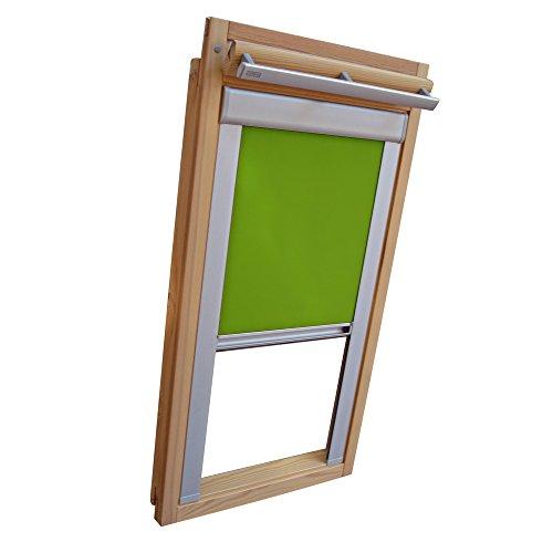 Verdunkelungsrollo Rollo für VELUX Dachfenster TYP GGL/GPL/GGU/GPU - CK04 - Farbe limone - mit Aluminium Seitenschienen - KLICK Montage
