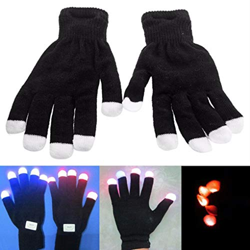 Yongse Colorful guanti infiammanti Incandescente luce della barretta guanti LED prestazioni Prop