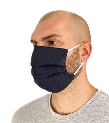 Community Masken 2er Pack Set Unisex Behelfsmaske Wendbar Mundschutz Maske Mund- und Nasenschutz Wendemaske mit Motiv Baumwolle BCI Waschbar - 2
