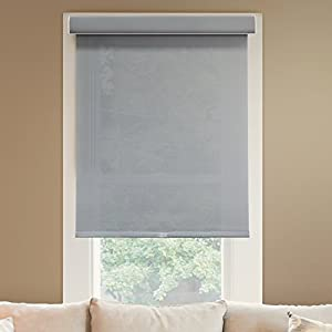 """Chicology Deluxe Free-Stop Cordless Roller Shades, No Tug Privacy Window Blind, Pebble (Light Filtering), 35""""W X 72""""H"""