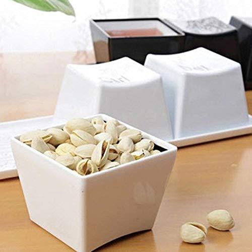 GGXH Kreative Tasse Tee-Set Tastatur Mode Tassen schwarz Farbe ctrl del alt 3 Stück/Tassen Werbegeschenke Messen Hochzeit-Weiß