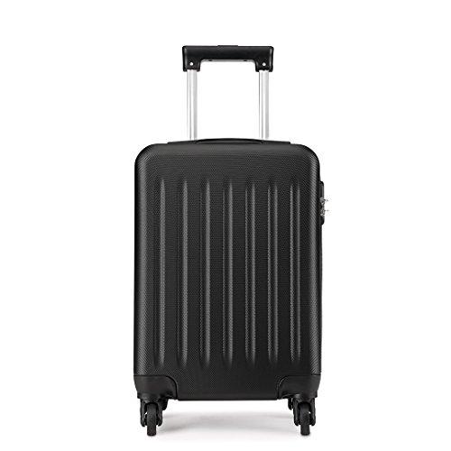 Kono Hardside Hand Luggage 4 Wheeled Spinner 19 inch Black