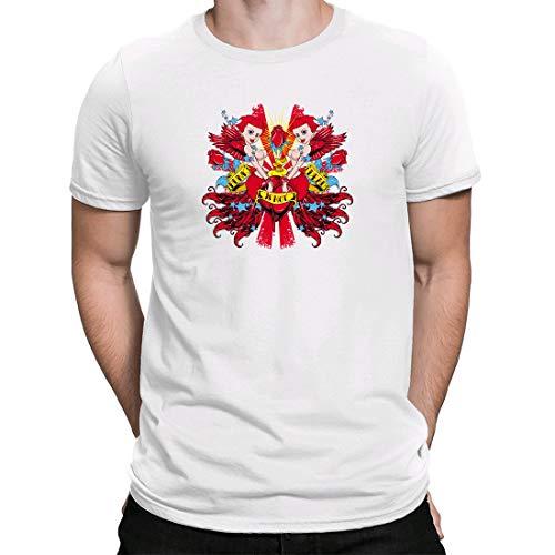 Preisvergleich Produktbild Punk Not Dead,  Herren T-Shirt Kurzarmshirt Casual Basic O-Neck t Shirt,  Weiß