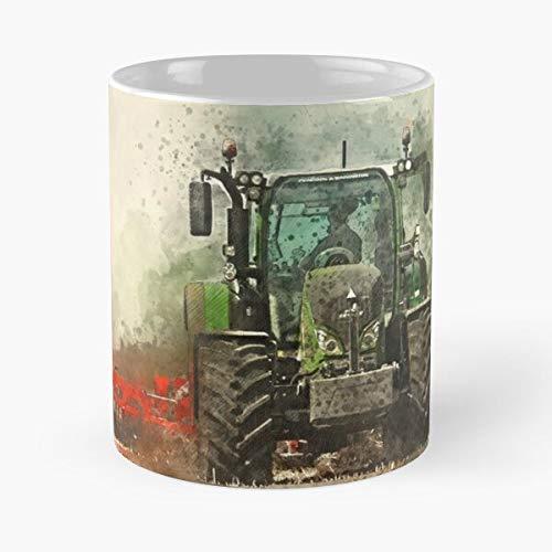 Pulling Agriculture Working Tractor Grafting Farming Fendt Power Best 11 oz Kaffeebecher - Nespresso Tassen Kaffee Motive