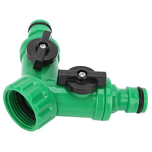 Adaptador divisor de conector de manguera, válvula en Y divisor de jardín resistente a la oxidación Conector en T divisor en T Útil divisor de agua delicado para la mayoría de los grifos de