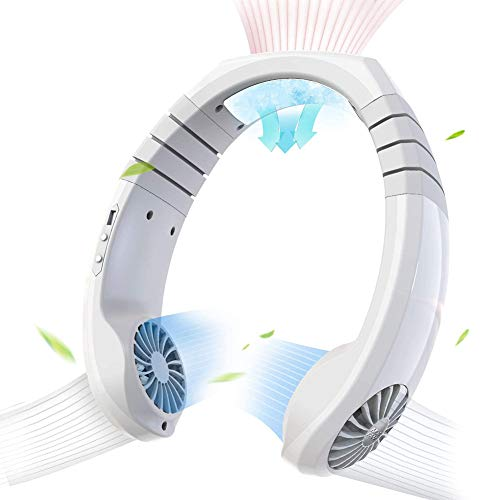 Xzan Personal Air Conditioner Neck Fan Cooler Portable Smart Cooling Neckband Fan Rechargeable