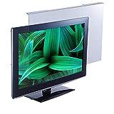 Filtro de Pantalla de TV de 22 Pulgadas, Antideslumbrante y Antideslumbrante, Protección Ocular Anti-UV, Diseñado para LCD, DIRIGIÓ, 4K OLED, QLED Easy On/Off y Acrílico Removible
