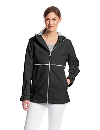 Charles River Apparel womens New Englander Wind & Waterproof Rain Jacket, Black, XXL