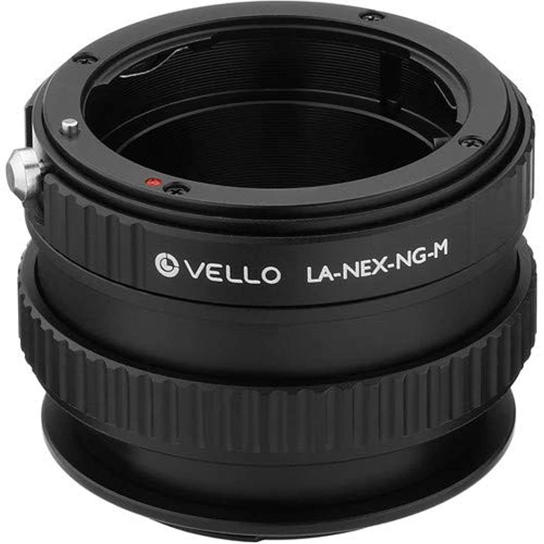 Vello Lens Adapter with Macro Compatible with Nikon F-Mount G Lens to Sony E-Mount Camera