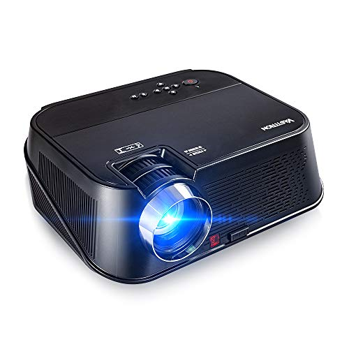 """Vasttron HD Video Projector, Super Bright 5500 Lux Full HD 1080P 200"""" Supported Home Theater Projector, Compatible with TV Sticks, Hulu, PS4, Smart Phones, PCs & More for Movies, TV and Gaming"""