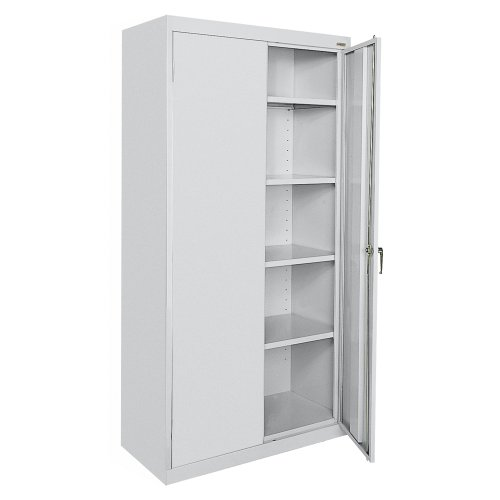 SANDUSKY LEE CA41362472-05 Classic Series Counter Height Cabinet with Adjustable Shelves, Steel, 72' Height, 36' Width, 24' Length, Dove Gray