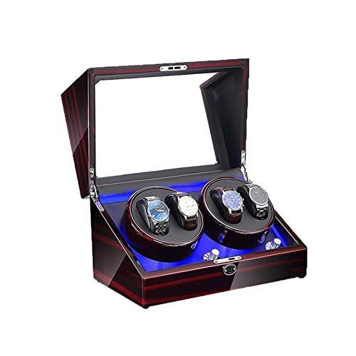 zyy Watch Winder Automático, 5 Modos de Rotación Motor Silencioso Apto for 4 Relojes (Color : A)