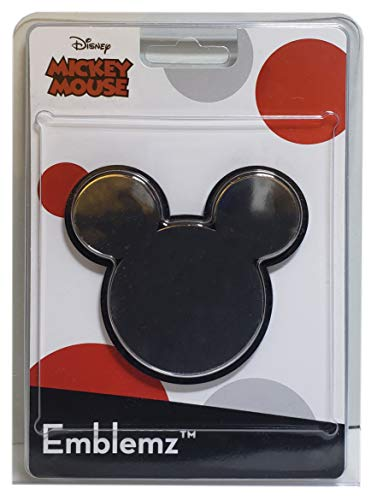 CHROMA Graphics 41508 Mickey Mouse Logo Injection Molded Chrome Colored Emblem Decal