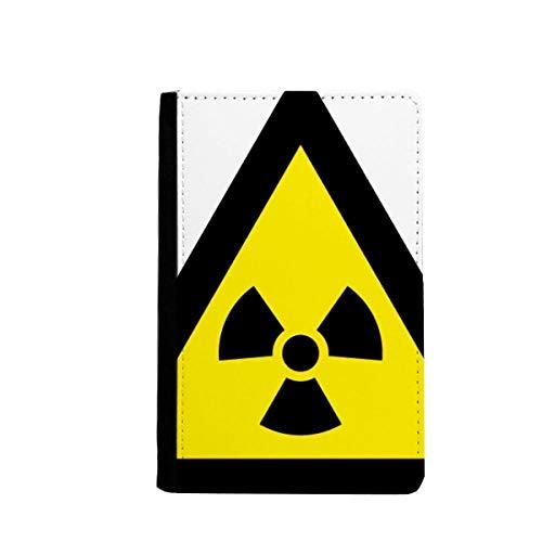 beatChong Símbolo De Advertencia De Radiación De Ionización Bolso Negro Tarjeta Amarilla Caso De La Cubierta Cartera De Viaje De Pasaporte Triángulo