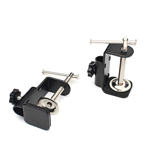 Anmeilexst 2 Pcs Adjustable Work Surface Mounting Bracket Retaining Clip, Small Equipment Cantilever Bracket