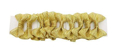 invlechtstrikjes goud 20 stuks 2,5 cm
