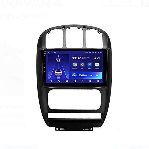 2 DIN Radio Coche Autoradio, con 9 Pulgadas HD Pantalla Táctil, Soporte Bluetooth Manos Libres/Mirror Link/DSP/1080P Video/RSD, para Chrysler Voyager/Dodge Caravan 4,Quad Core,WiFi 1+32