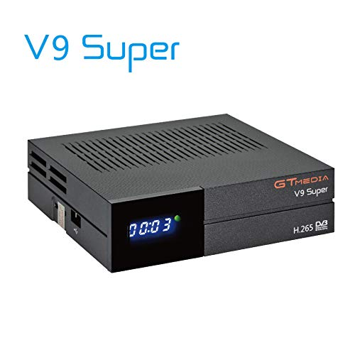 GT MEDIA V9 Super DVB-S2 Decodificador Satélite Receptor de TV Digital H.265 HD 1080P FTA Soporte CC CAM New CAM Youtube PVR Ready PowerVu Clave Biss, Wi-fi Incorporado