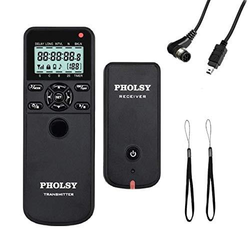 PHOLSY Inalámbrico Temporizador Mando a Distancia Disparador con HDR y Intervalómetro para Nikon Z7, Z6, Z7-II, Z6-II, D750, D780, D7500, D7200, D5600, D5500, P7700, P7800, P950, D3, D4, D5, D6, D850
