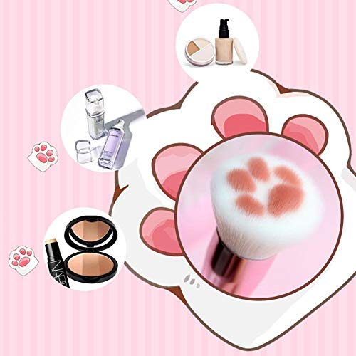 Xiangyin Make Up Brush, Japanese Cute Cat Paw Telescopic Cosmetic Brush Makeup Pen with Dense Bristles for Girls, Professional Makeup Brush, Create Cute Make-up Looking.