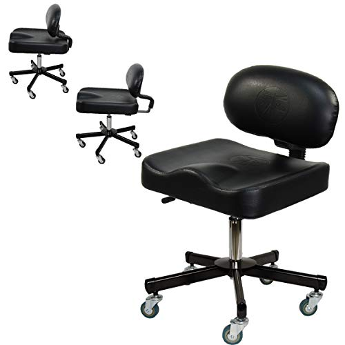InkBed Ergonomic Adjustable Back Support Technician Stool