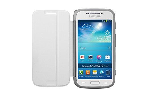 Samsung Original Flip Case Cover Hülle mit Passender Lensabdeckung für Samsung Galaxy S4 Zoom - Weiß