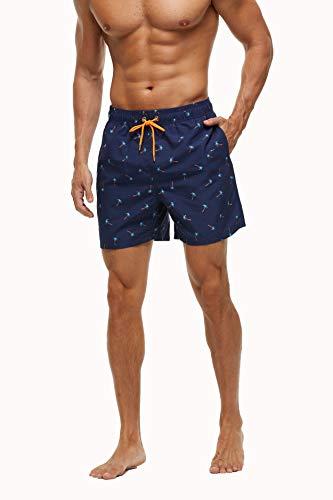 ShopINess Bañador Playa y Piscina Hombre Estampados (Palmeras, S)