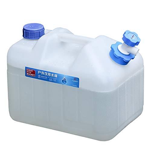 garrafas de plastico Al aire libre grande PE cubos limpios tanque de agua de plástico de calidad alimentaria con el hogar del grifo con un coche cubierta que conduce cubo de agua mineral llena de agua
