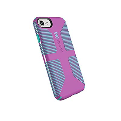 Speck Products CandyShell Grip iPhone SE 2020 Case/iPhone 8/7/6S/6 - Beaming Orchid/Mykonos Blue