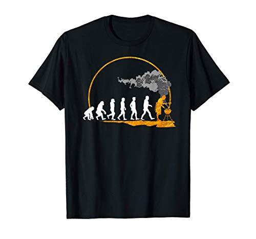 Men Barbecue Gift T-Shirt Evolution del Fumatore Tee Grill Maglietta