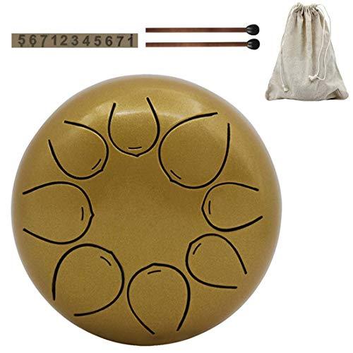 Qinmo Percusión, de mano Pan tambor 8 Notas 5 Inche, Lengua