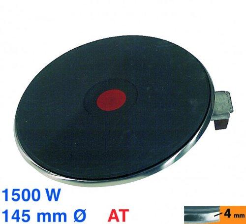Unbekannt Kochplatte 145mmØ 1500W 230V, at! Blitz-Kochplatte mit 4 mm Chromrand, 4 Schraub-Anschlüsse, für Kochmulden mit Massekochplatten
