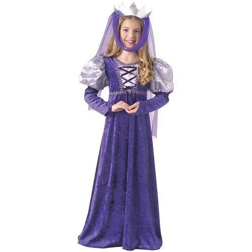 Disfraz de Reina medieval para niños, infantil 3-4 años (Rubie