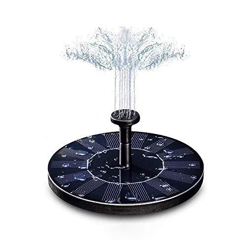 Kraeoke Solar Springbrunnen, 1.4W Solar Teichpumpe mit 4 Effekte | Maximum 70cm Höhe Solar Wasserpumpe