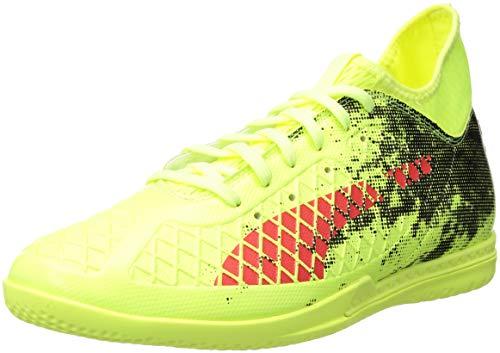 PUMA Men's Future 18.3 IT Soccer Shoe, Fizzy Yellow-red Blast Black, 8 M US
