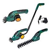 LZQ - Juego de tijeras cortasetos con batería, 2 en 1, incluye ruedas y mango, cortacésped y herramientas eléctricas de jardín
