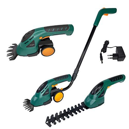 LZQ Akku Grasschere Strauchschere Set 2in1 inkl. Räder und Griff Rasenschere Rasenmäher & Elektrische Gartenwerkzeuge Gras-Schere Strauchtrimmer Heckenschere