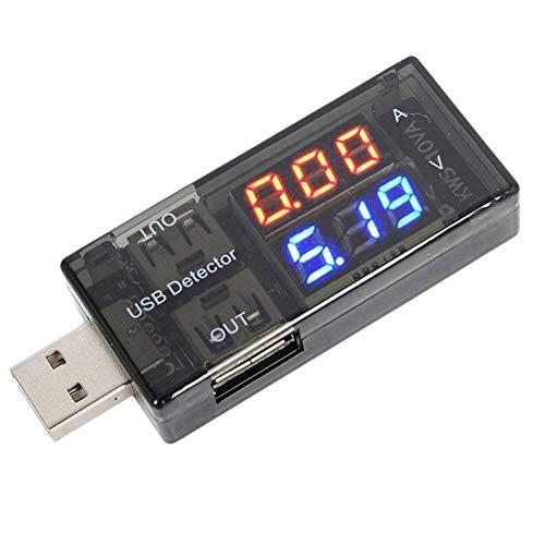USB-Detektor Digitales Multimeter Stromtester Stromspannung Batteriemonitor mit LED-Anzeige für Power Bank und mehr