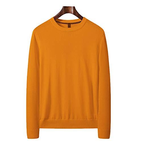 Jersey Fino de Cuello Redondo para Hombre Jersey de Punto Fino Slim Fit Stretch Color slido Clsico bsico Casual Pullover X-Large