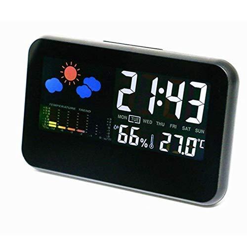 Estación meteorológica Monitor digital de temperatura Estación meteorológica personal para dormitorio Temperatura...