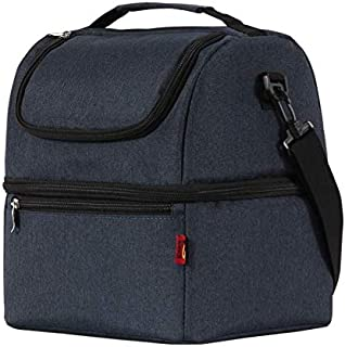 Adult Lunch Box Insulated Lunch Bag Large Cooler Tote Bag for Men Women Double Deck Cooler
