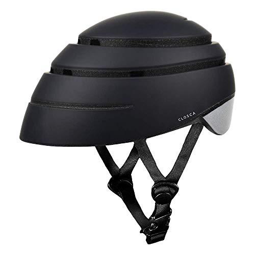 Closca Helmet Loop/Faltbarer Fahrrad- und/oder Rollerhelm, Unisex für Erwachsene (schwarz/reflektierende, L)