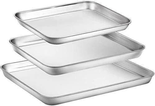 Baking Sheet Set of three, Cookie Sheet Set 3 Pieces Toaster-Kitchen mat-Baking sheet-Cookie sheet-Kitchen set-Baking pans-Sheet pan-Baking sheets-Baking sheets for oven-Sheets cookie-Sheet baking