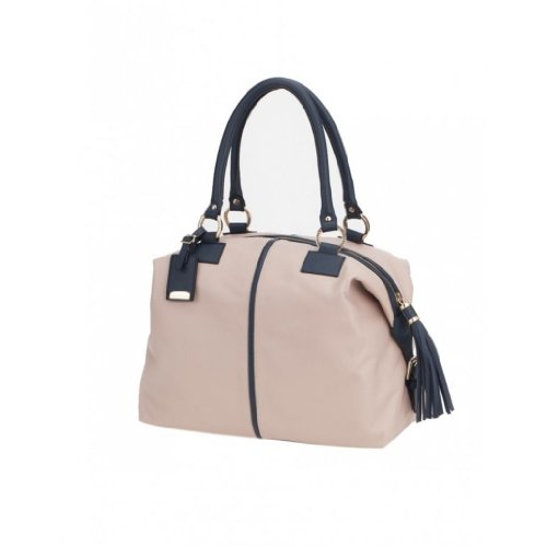 Ismachseven Manuela Handbag -Light pink with blue
