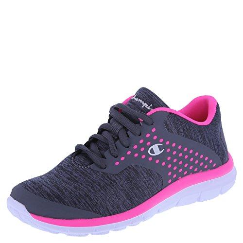 Champion Girls' Grey Pink Jersey Girls' Gusto Cross Trainer 2 Regular
